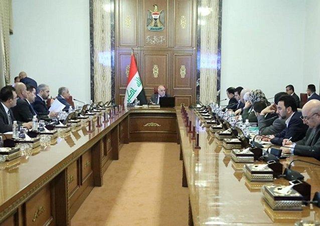مجلس الوزراء العراقي برئاسة حيدر العبادي