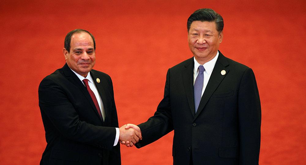 السيسي والرئيس الصيني