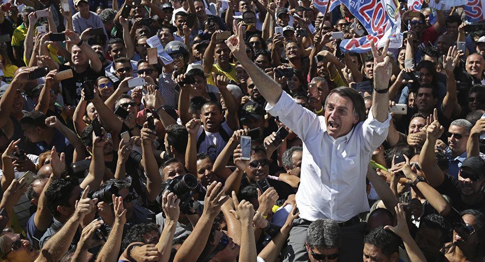المرشح للرئاسة البرازيلية يائير بولسونارو
