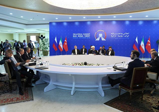 القمة الثلاثية لروسيا وإيران وتركيا في طهران