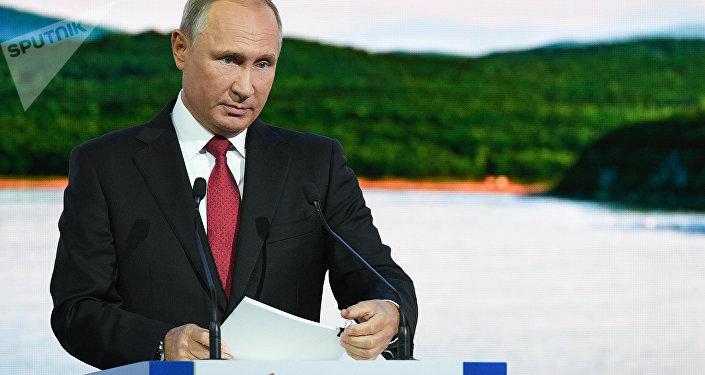 الرئيس الروسي فلاديمير بوتين في منتدى الإقتصادي الشرقي