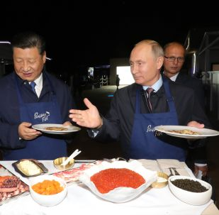 الرئيسان الروسي و الصيني يزوران معرضا في إطار منتدى الاقتصاد العالمي في مدينة فلاديفوستوك الروسية