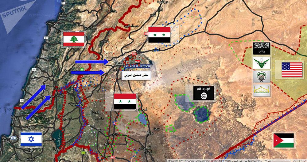 خريطة الضربة الإسرائيلية على مطار دمشق الدولي