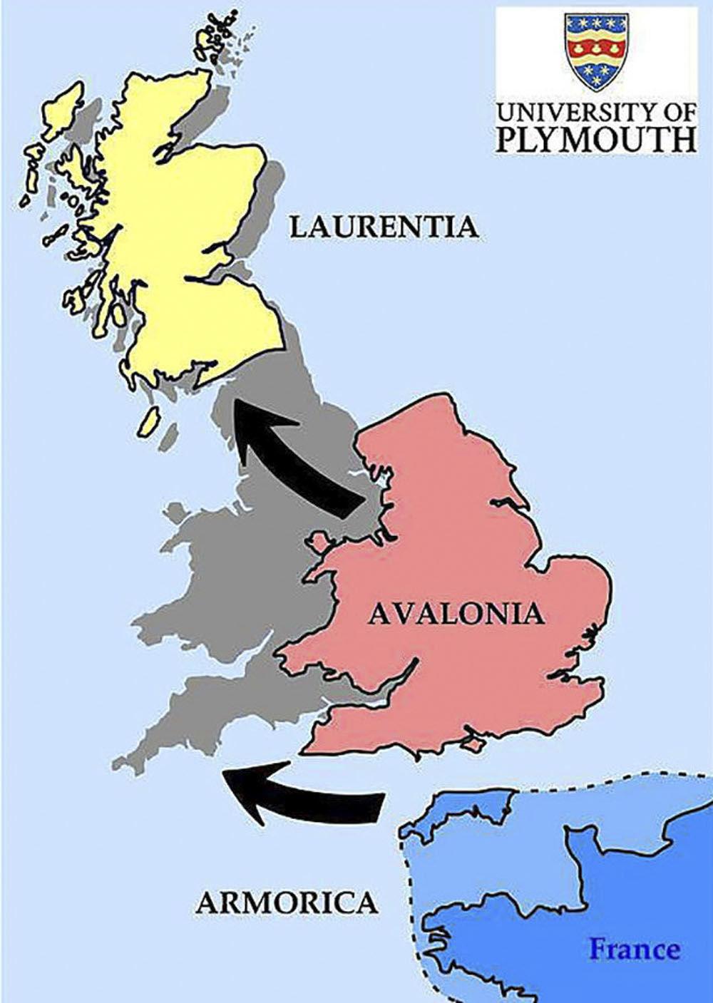 خريطة اندماج الجزر البريطانية بمشاركة 3 قارات صغيرة