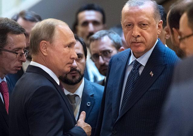 لقاء الرئيس بوتين مع أردوغان في سوتشي