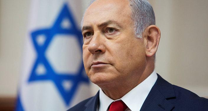 رئيس الوزراء الإسرائيلي بنيامين نتنياهو خلال جلسة أسبوعية في مكتب رئيس الوزراء في القدس، 16 سبتمبر/ أيلول 2018