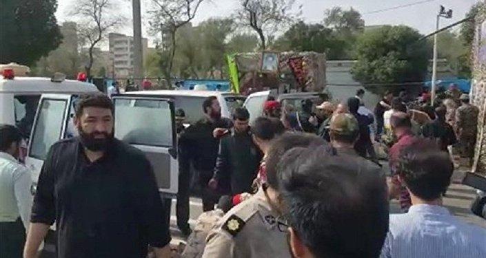 الهجوم على العرض العسكري الإيراني