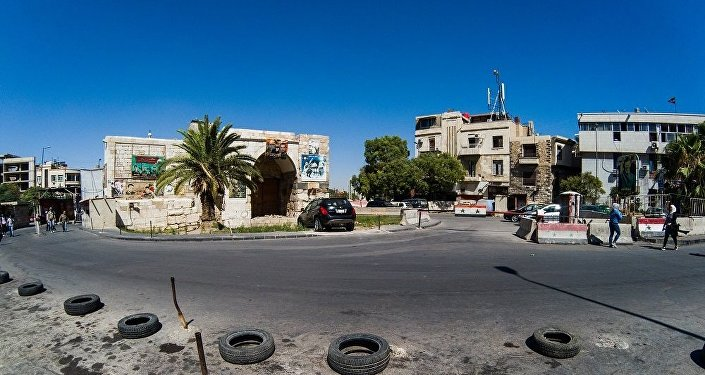 ساحة باب توما في العاصمة دمشق