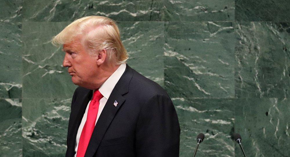 الرئيس الأمريكي دونالد ترامب أمام جمعية الأمم المتحدة، نيويورك 25 سبتمبر/ أيلول 2018