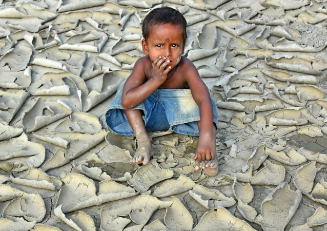 صورة بعنوان الجفاف للمصور الهندي تشيموني بيسواس، الفائز بجائزة في فئة تغيرات المناخ