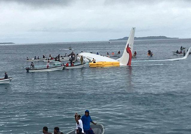 غرق طائرة ميكرونيزيا