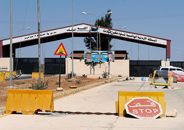 الحدود السورية الأردنية معبر جابر نصيب