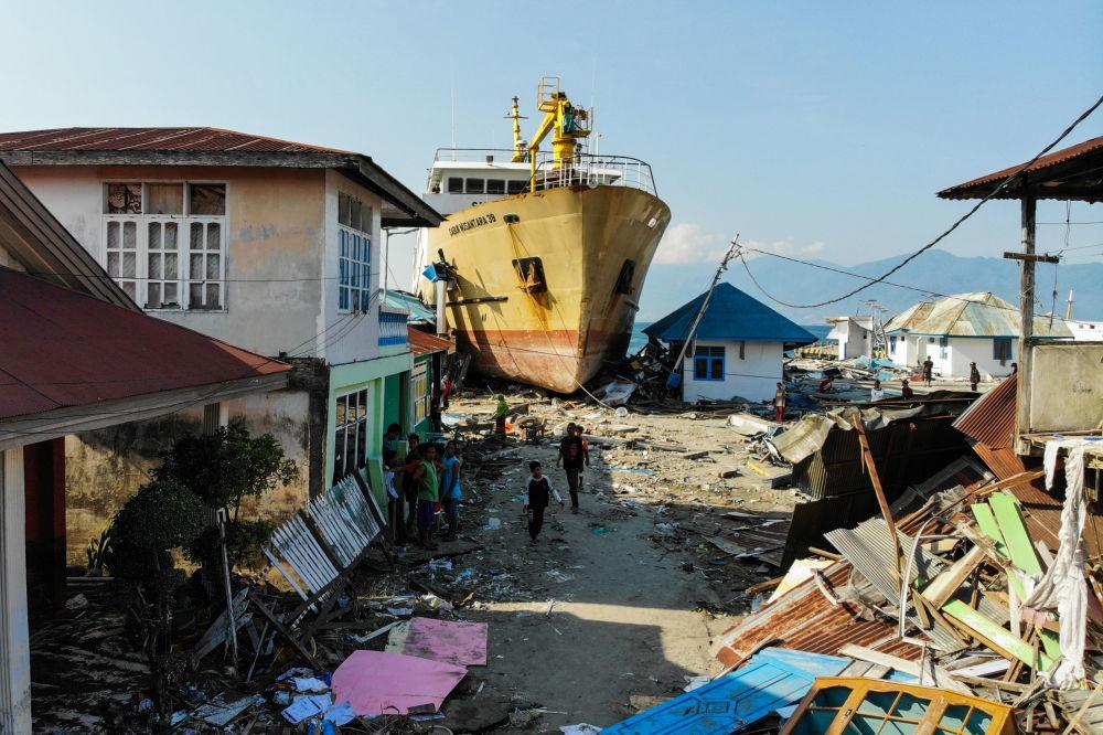 آثار الهزة الأرضية وتسونامي الذين ضربا جزيرة سولاويسي، وسط إندونيسيا، 3 أكتوبر/ تشرين الأول 2018