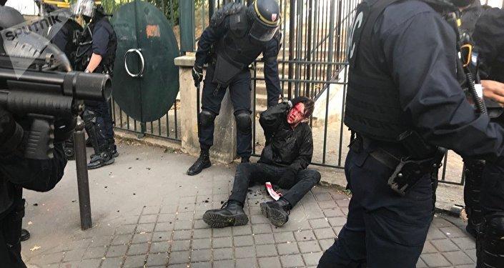 مظاهرات العمال في فرنسا، 9 أكتوبر/ تشرين الأول 2018
