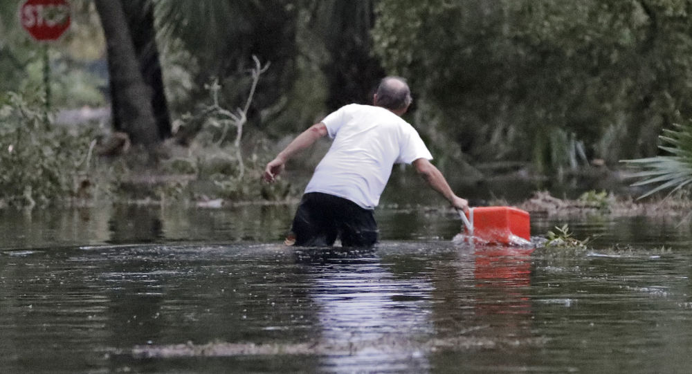 إعصار مايكل في سيتي بيتش، فلوريدا، الولايات المتحدة 10 أكتوبر/ تشرين الأول 2018
