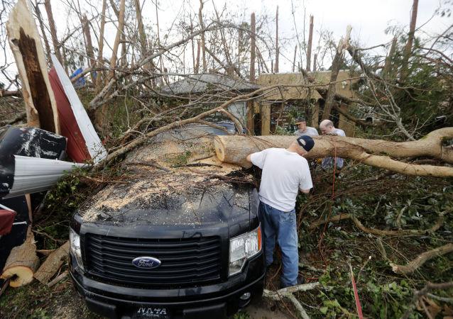 آثار إعصار مايكل في بنما سيتي، فلوريدا، الولايات المتحدة 11 أكتوبر/ تشرين الأول 2018