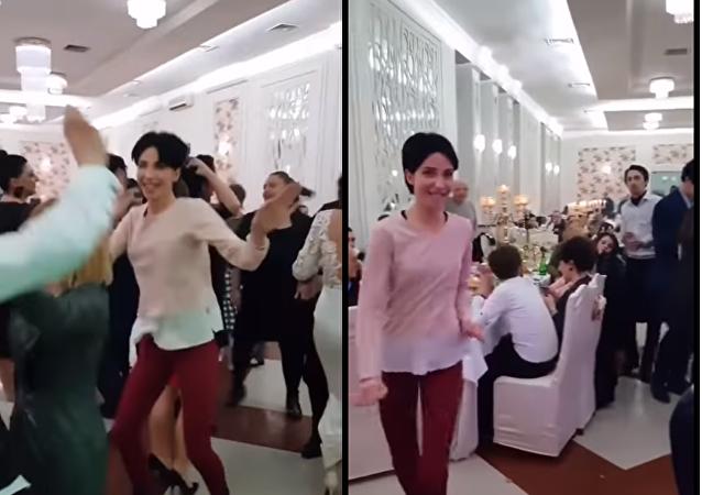 ردة فعل زوجة على رقص زوجها مع فتاة أخرى في حفل زفاف