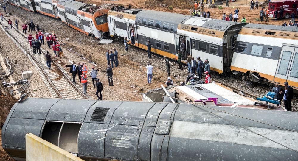 انقلاب قطار بين العاصمة الرباط ومدينة القنيطرة شمالا، المغرب 16 أكتوبر/ تشرين الأول 2018