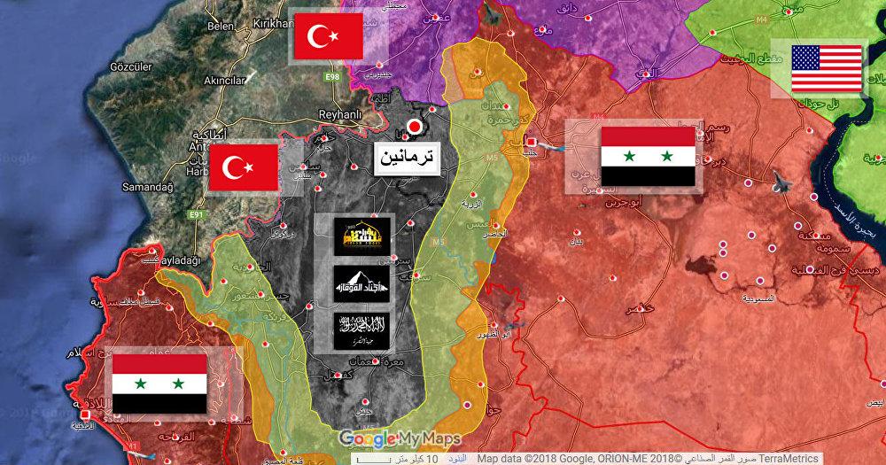 صورة قمر صناعي إدلب سوريا