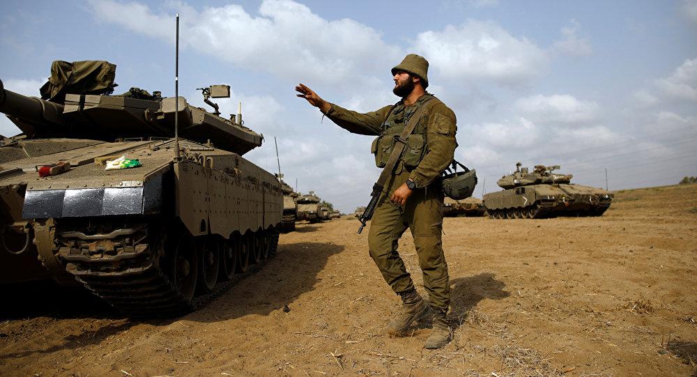 انتشار قوات الجيش الإسرائيلي على الحدود مع قطاع غزة، 18 أكتوبر/ تشرين الأول 2018