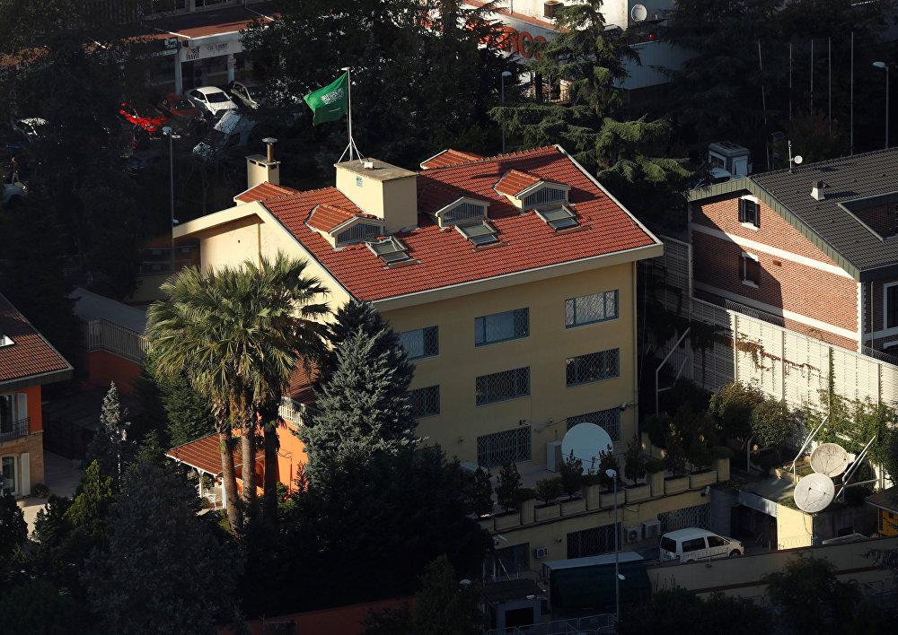 صورة لقنصلية المملكة العربية السعودية من ناطحة سحاب بمنطقة ليفنت في اسطنبول