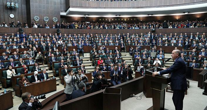 الرئيس رجب طيب أردوغان يلقي كلمة أمام البرلمان التركي حول قضية مقتل الصحفي السعودي جمال خاشقجي، أنقرة 23 أكتوبر/ تشرين الأول 2018