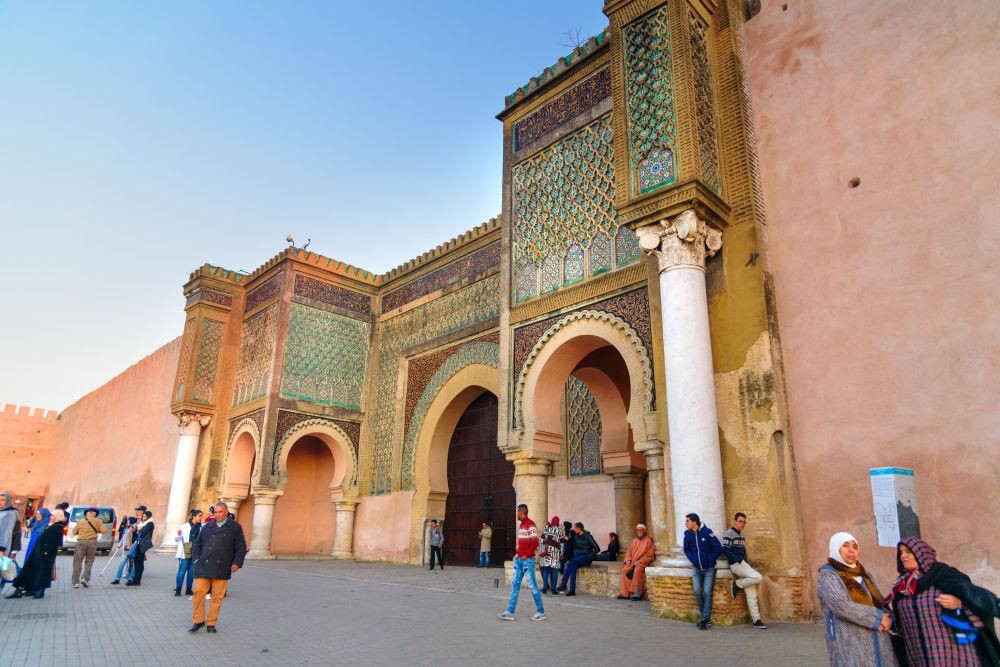 باب منصور لعلج في مدينة مكناس، المغرب