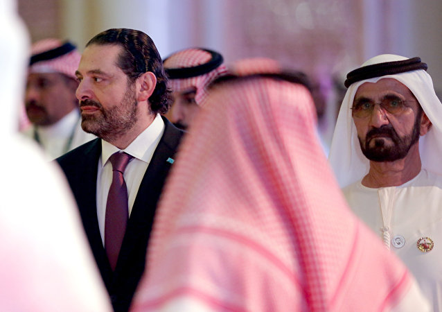 رئيس الوزراء اللبناني سعد الحريري في مؤتمر مبادرة الاستثمار المستقبلي في الرياض، 24 أكتوبر/ تشرين الأول 2018