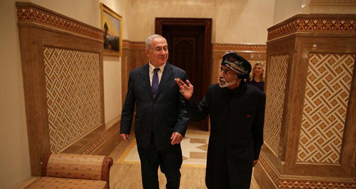 سلطان عمان قابوس بن سعيد ورئيس وزراء إسرائيل بنيامين نتنياهو