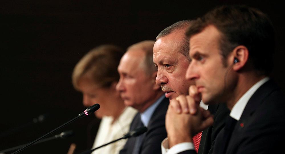 البيان الختامي للقادة المشاركين في القمة الرباعية حول سوريا