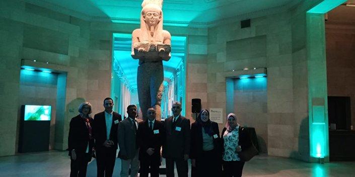 آثار مصرية في معرض مينا بوليس