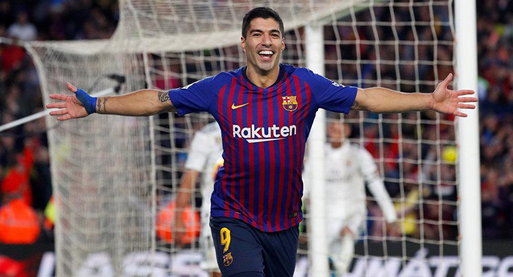 لاعب نادي فريق برشلونة لويس سواريز، برشلونة، إسبانيا 28 أكتوبر/ تشرين الأول 2018