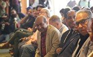 الناقد المصري طارق الشناوي في مؤتمر الإعلان عن فعاليات الدورة الـ 40 لمهرجان القاهرة السينمائي الدولي، 29 أكتوبر/تشرين الأول 2018