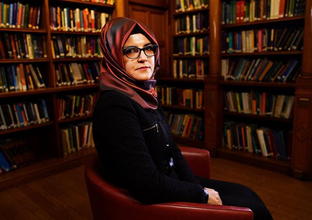 خديجة جنكيز خطيبة الصحفي السعودي جمال خاشقجي في حوارها مع رويترز، 29 أكتوبر/تشرين الأول 2018