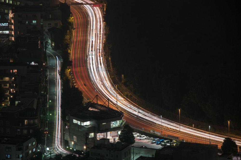 شوارع مدينة  طوكيو، اليابان