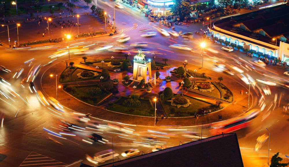 أزمة سير في وسط مدينة هوشي مينه، فيتنام