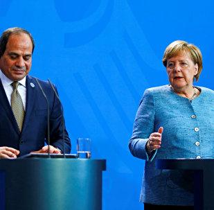 مؤتمر صحفي مشترك للمستشارة الألمانية أنجيلا ميركل والرئيس المصري عبدالفتاح السيسي في برلين، ألمانيا 30 أكتوبر/ تشرين الأول 2018