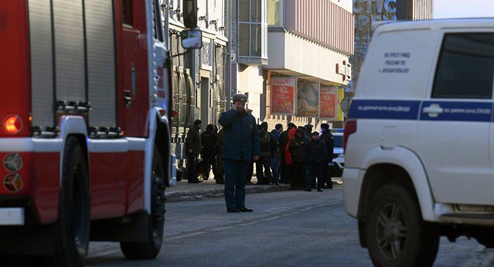 انفجار عند مدخل مبنى الأمن الفيدرالي في مدينة أرخانغلسك