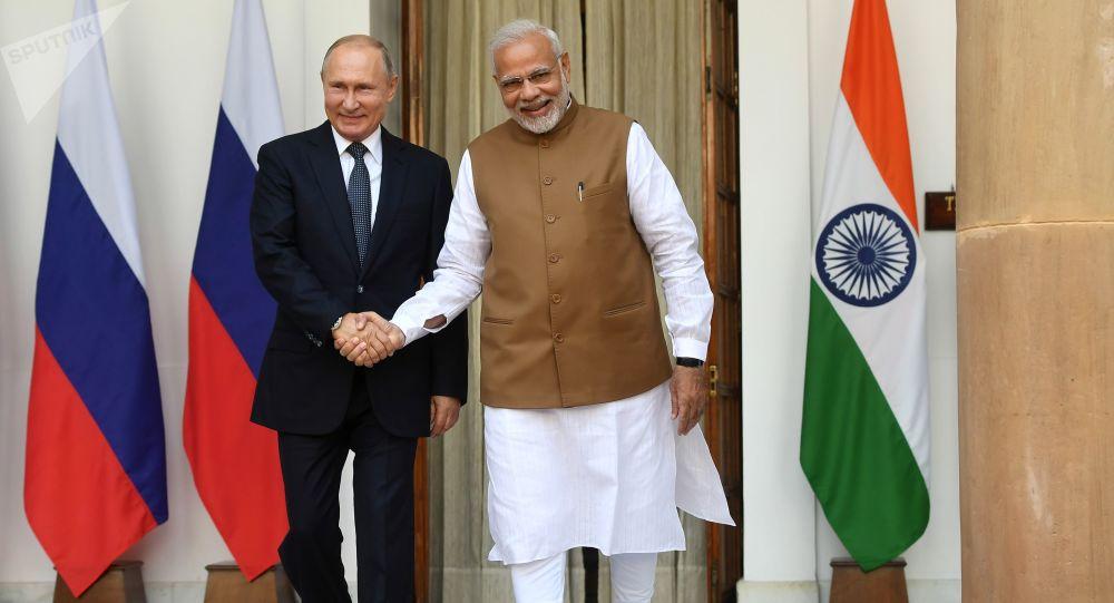 زيارة الرئيس فلاديمير بوتين الرسمية إلى الهند ولقائه رئيس الوزراء ناريدا مودي في نيودلهي، 5 أكتوبر/ تشرين الأول 2018
