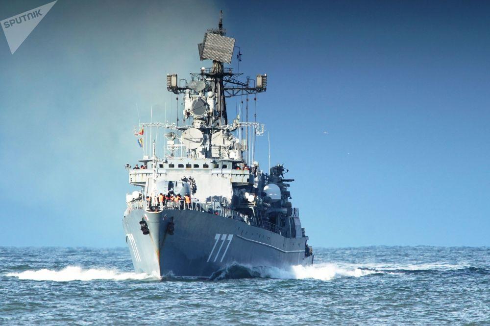 سفينة دورية ياروسلاف مودري (ياروسلاف الحكيم) بعد أداء مهمتها وخدمتها القتالية في البحر الأبيض المتوسط