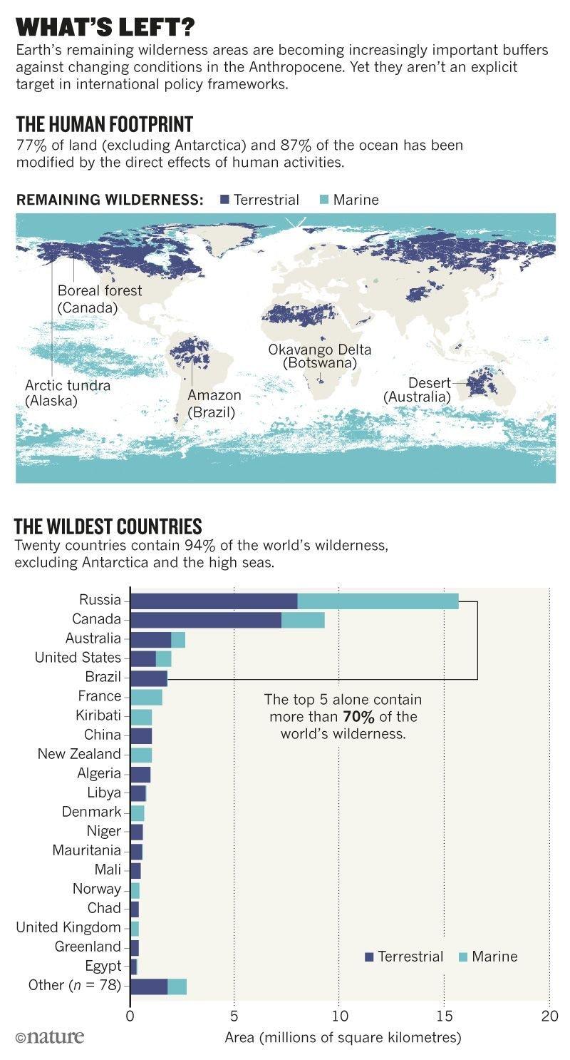 المناطق البرية في العالم