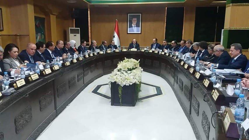 الإجتماع الإستثنائي لمجلس الوزراء السوري بمحافظة حلب