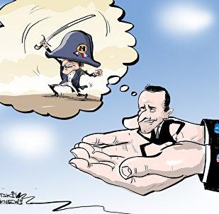 ماكرون بونابرت يحلم