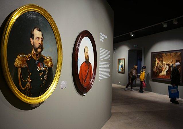 لوحة للإمبراطور ألكسندر الثاني في معرض موسكو
