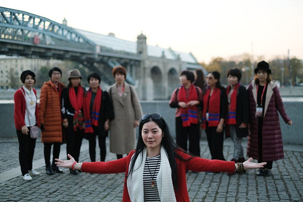 سياح صينيون في موسكو