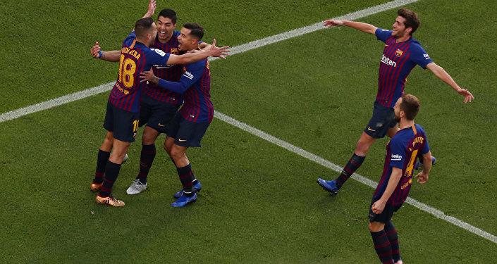 لاعبي برشلونة