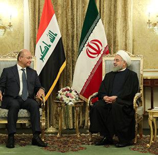 الرئيس الإيراني حسن روحاني يلتقي بالرئيس العراقي برهم صالح في طهران، 17 نوفمبر/ تشرين الثاني 2018