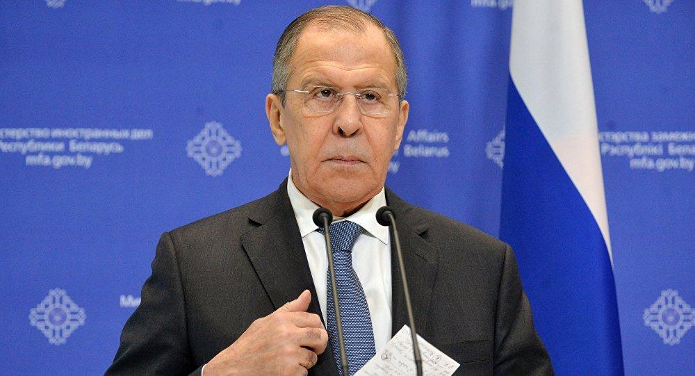 وزير الخارجية الروسي سيرغي لافروف في زيارة عمل إلى مينسك
