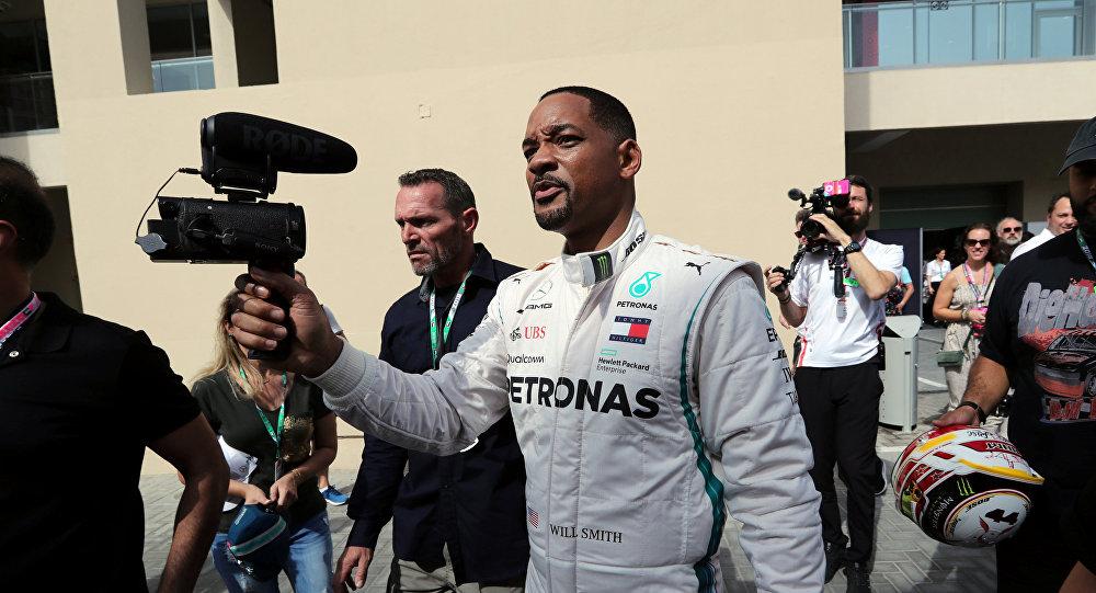 الممثل الأمريكي ويل سميث في سباق فورمولا وان في أبوظبي، 25 نوفمبر/تشرين الثاني 2018