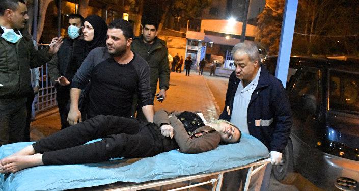 نتيجة قصف جبهة النصرة الإرهابية للمدنيين بالغازات السامة في حلب